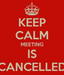 Meeting Cancelled !!